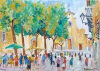 Quadro di Rodolfo Marma  Piazza Santo Spirito