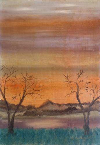 Quadro di L. Cantinelli Paesaggio - olio tela