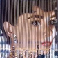 Quadro di Piero Maffessoli (Malipiero) - Osmosi - Audrey Hepburn e Chicago collage carta