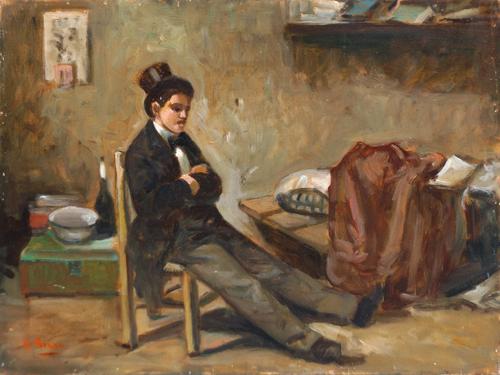Quadro di Luigi Di Rocco Interno - olio tavola
