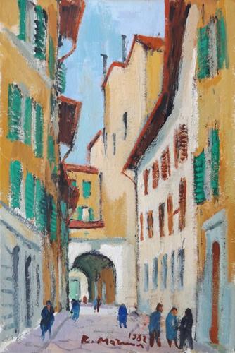 Quadro di Rodolfo Marma Borgo Pinti - olio cartone telato