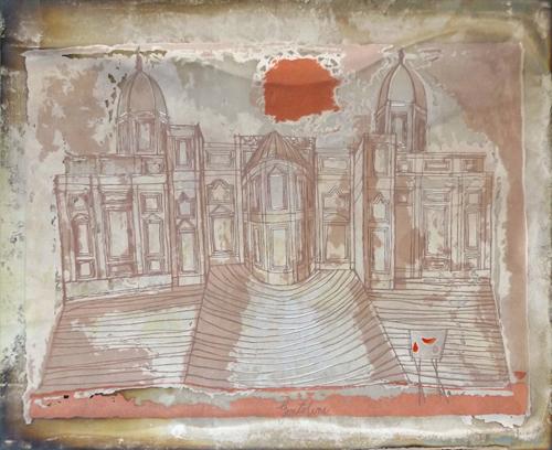 Quadro di Franco Gentilini Santa Maria Maggiore - incisione argento
