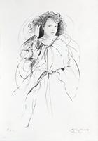 Quadro di Riccardo Benvenuti - Figura di donna litografia carta