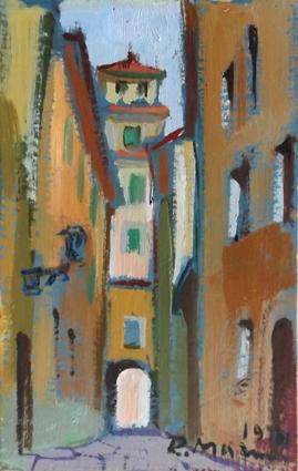 Quadro di Rodolfo Marma Vicolo dei Ricasoli - olio cartone