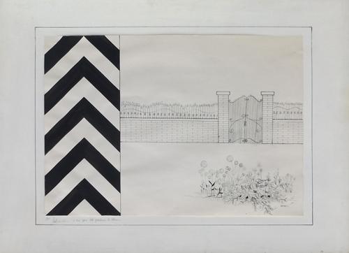 Quadro di Franco Lastraioli A due passi dal giardino di Alice - mista carta