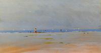 Quadro di Piero Vaccari  In spiaggia