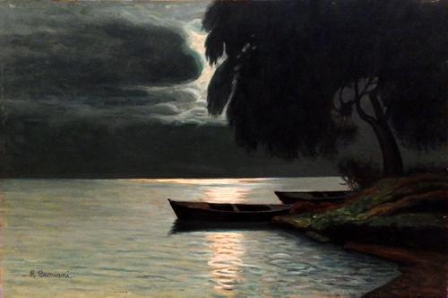 Art work by Rolando Crociani Poesia della notte - oil table