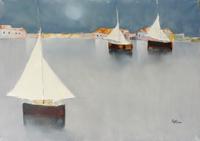 Quadro di Lido Bettarini - Marina olio tela
