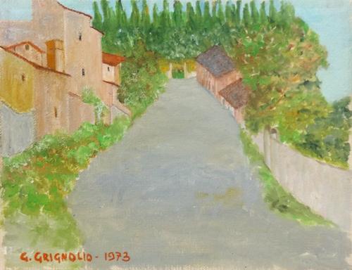 Quadro di G. Grignolo Monte Morello - olio tela