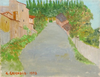 Quadro di G. Grignolo  Monte Morello