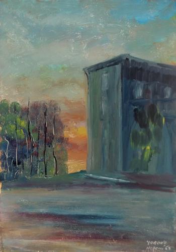 Quadro di Moreno Morelli Paesaggio - olio tavola