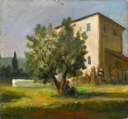 Quadro di Fausto Magni Riposo - olio tavola