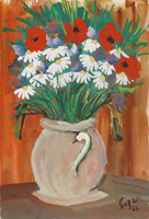 Quadro di Firma Illeggibile  Vaso di fiori