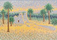 Quadro di M. Saleem  Paesaggio africano