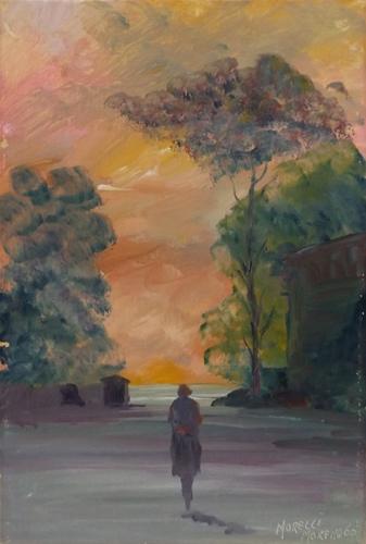 Quadro di Moreno Morelli Paesaggio - olio cartone telato