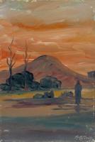 Quadro di Moreno Morelli  Paesaggio