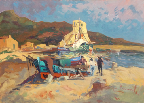Art work by Willy Clemente Marciana Marina - Isola d'elba - oil canvas