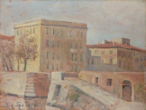 Quadro di Giacomo Vaccaro Livorno - olio tavola
