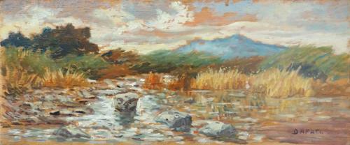 Quadro di  D'Afati Paesaggio - olio tavola