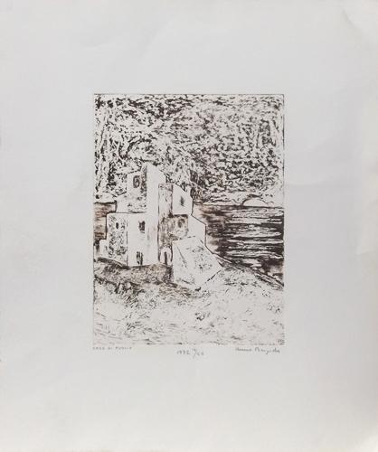 Quadro di Anna Brigida Casa di Puglia - litografia carta