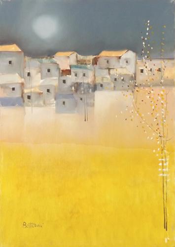 Art work by Lido Bettarini Campo di grano - oil canvas
