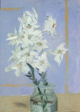 Quadro di Renzo Grazzini Vaso di fiori - olio tavola