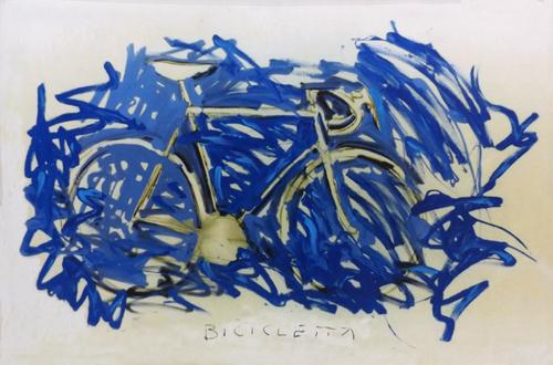 Quadro di Andrea Tirinnanzi Omaggio a Schifano - mista tela