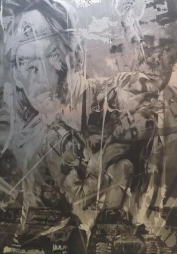 Quadro di Andrea Tirinnanzi Guerra e pace - ink jet argento
