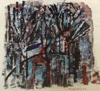 Quadro di Alvaro Baragli - Paesaggio mista carta