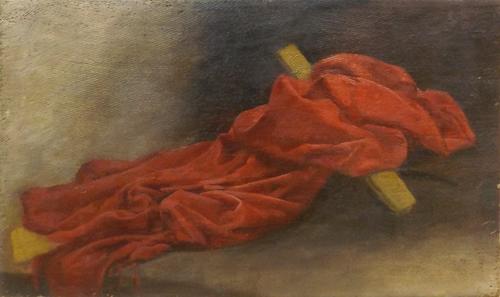 Quadro di  Anonimo Composizione con croce - olio tela
