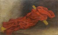 Quadro di  Pittori anonimi - Composizione con croce olio tela