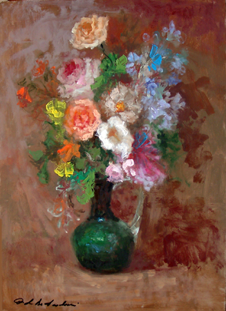 Art work by Osman Lorenzo De Scolari Fiori - oil table