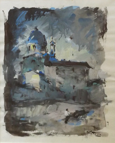 Art work by Gino Tili San Frediano in Cestello - watercolor paper
