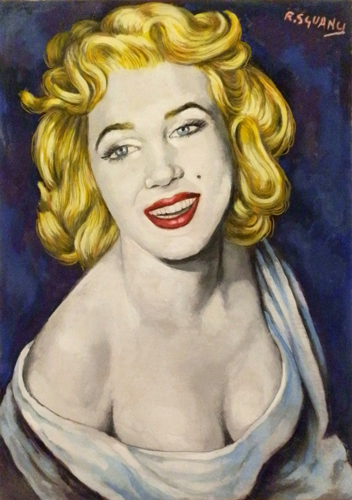 Art work by Roberto Sguanci Serie cinema - A Marilyn - oil cardboard