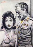 Quadro di Roberto Sguanci  Serie cinema - Gina e Vittorio