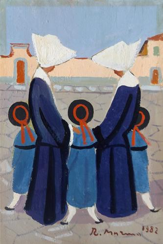 Quadro di Rodolfo Marma Monachine - olio cartone telato