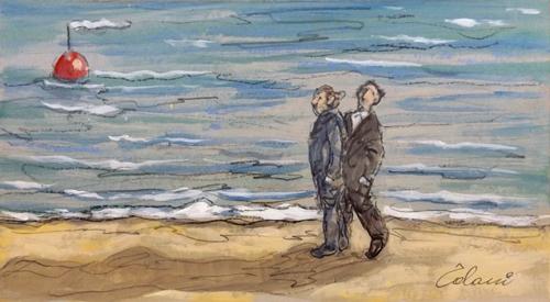 Quadro di Giampaolo Talani Figure - mista cartone