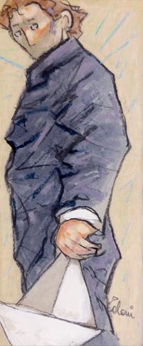Quadro di Giampaolo Talani La barca in una mano - mista cartone