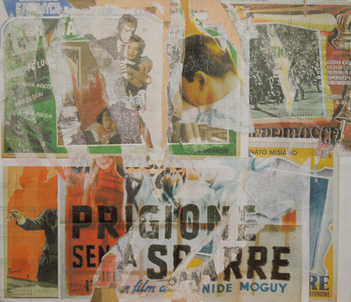 Art work by Andrea Tirinnanzi Prigione senza sbarre  - decollage table