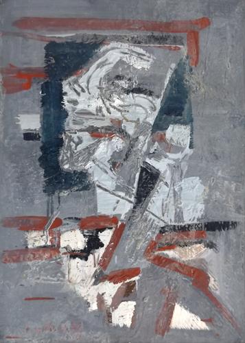 Quadro di Enzo Bartolozzi Figura astratta - mista tavola