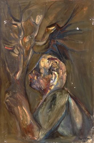 Quadro di Enzo Bartolozzi Figura - olio tela