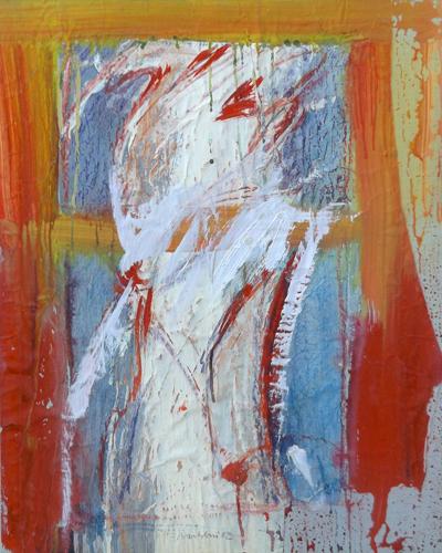 Art work by Enzo Bartolozzi Figura astratta - mixed paper