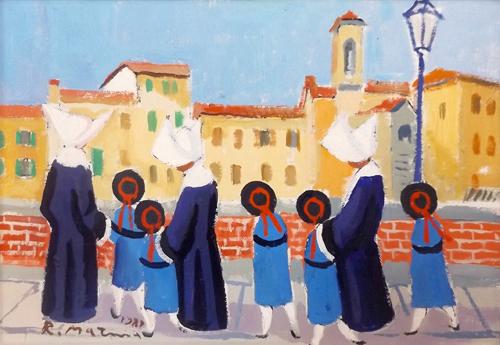 Quadro di Rodolfo Marma Lungarno - Pittori contemporanei galleria Firenze Art