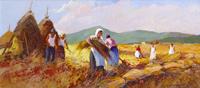 Quadro di Claudio da Firenze  Mietere il grano