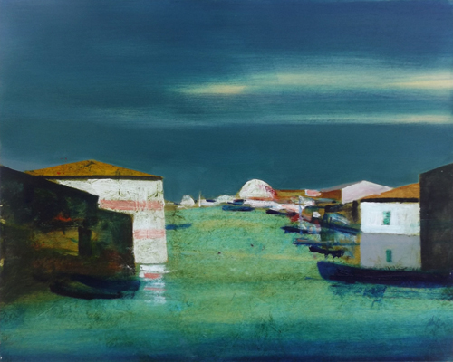 Art work by Salvatore Magazzini Marina - oil table