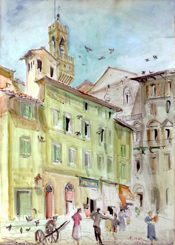 Art work by Rodolfo Marma Piazza Castellani - watercolor paper