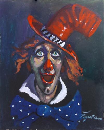 Art work by Luigi Pignataro Clown - acrylic canvas