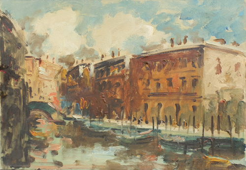 Art work by Emanuele Cappello Canal Grande - oil canvas