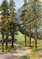 Quadro di Giuseppe Capineri  Sentiero nel bosco