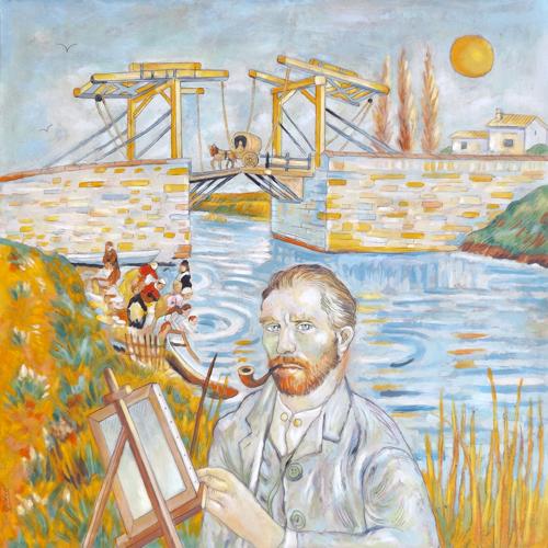 Quadro di Roberto Sguanci Omaggio a Van Gogh - olio cartone